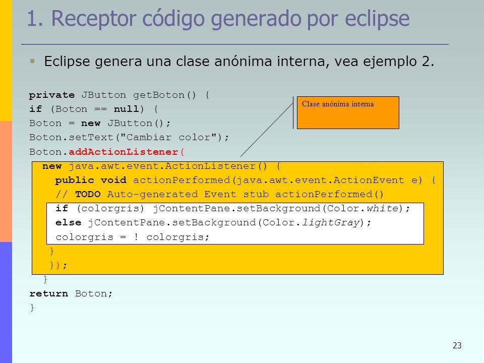 1. Receptor código generado por eclipse