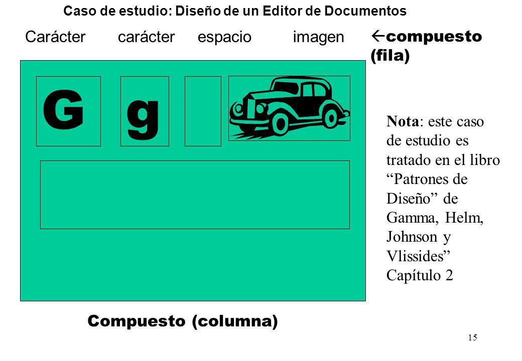 Caso de estudio: Diseño de un Editor de Documentos