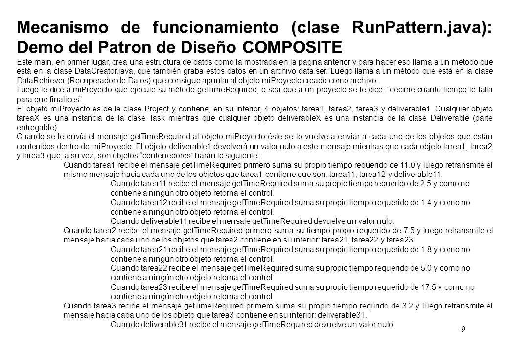 Mecanismo de funcionamiento (clase RunPattern