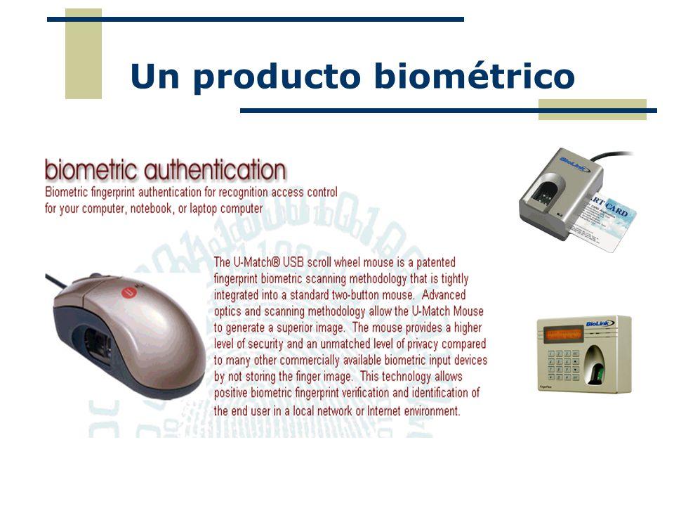 Un producto biométrico