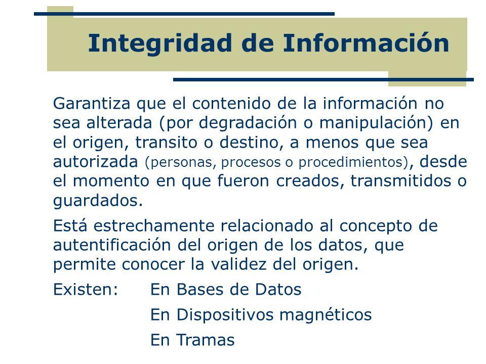 Integridad de Información