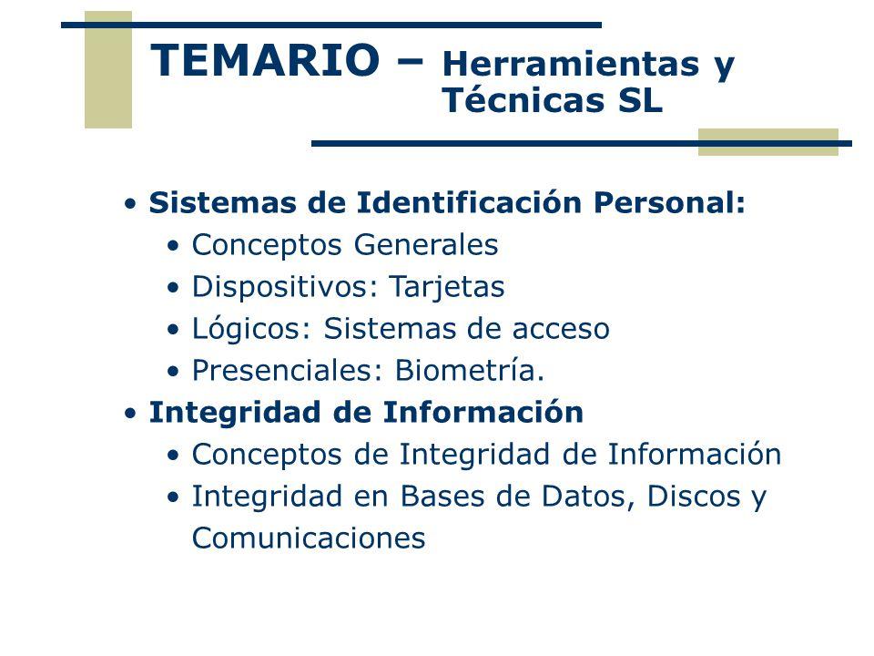 TEMARIO – Herramientas y Técnicas SL