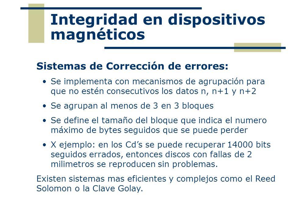 Integridad en dispositivos magnéticos