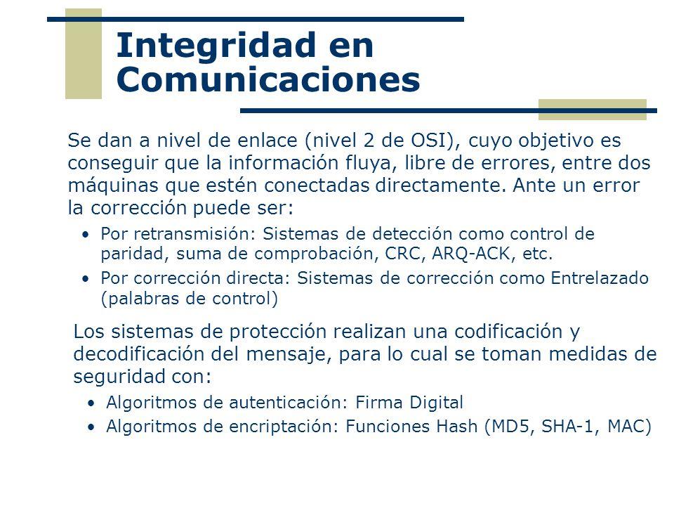Integridad en Comunicaciones
