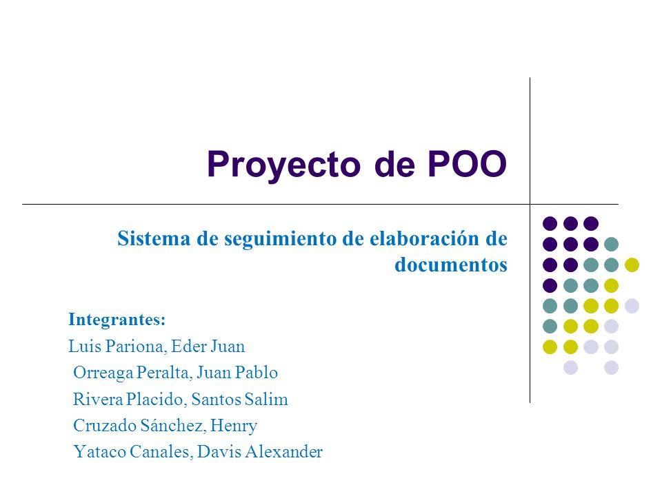 Proyecto de POO Sistema de seguimiento de elaboración de documentos