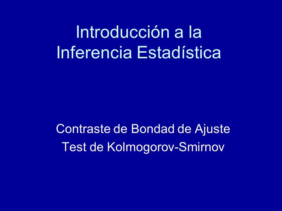 Introducción a la Inferencia Estadística