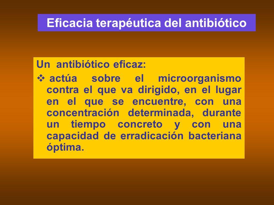 Eficacia terapéutica del antibiótico