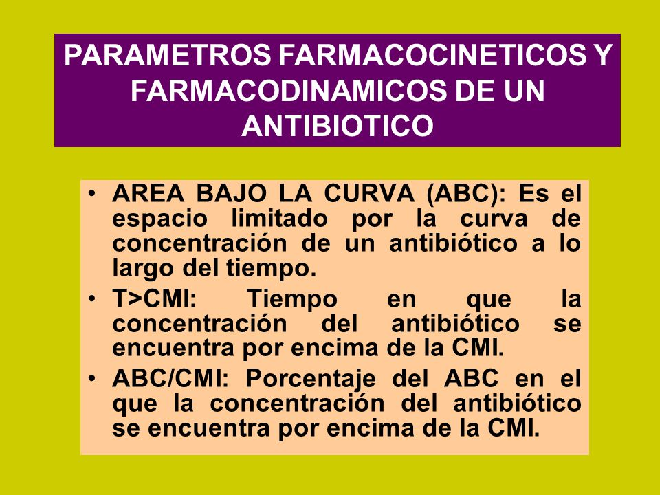 PARAMETROS FARMACOCINETICOS Y FARMACODINAMICOS DE UN ANTIBIOTICO