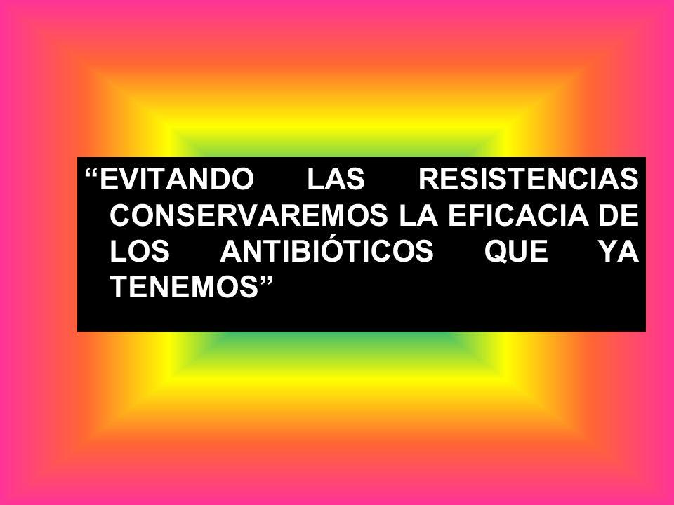 EVITANDO LAS RESISTENCIAS CONSERVAREMOS LA EFICACIA DE LOS ANTIBIÓTICOS QUE YA TENEMOS