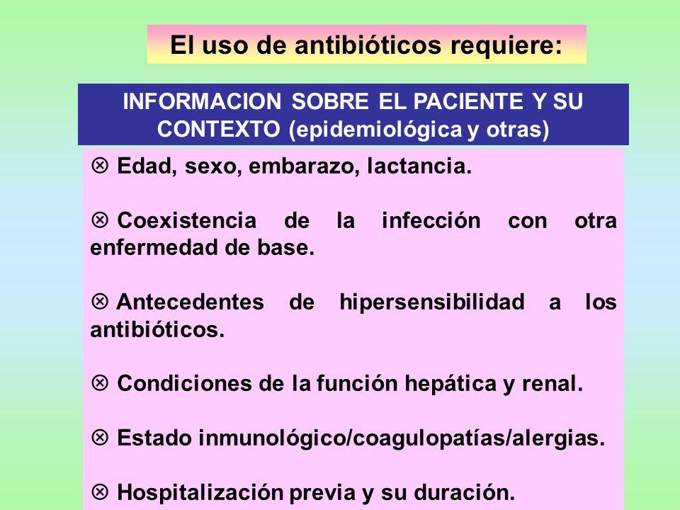 El uso de antibióticos requiere: