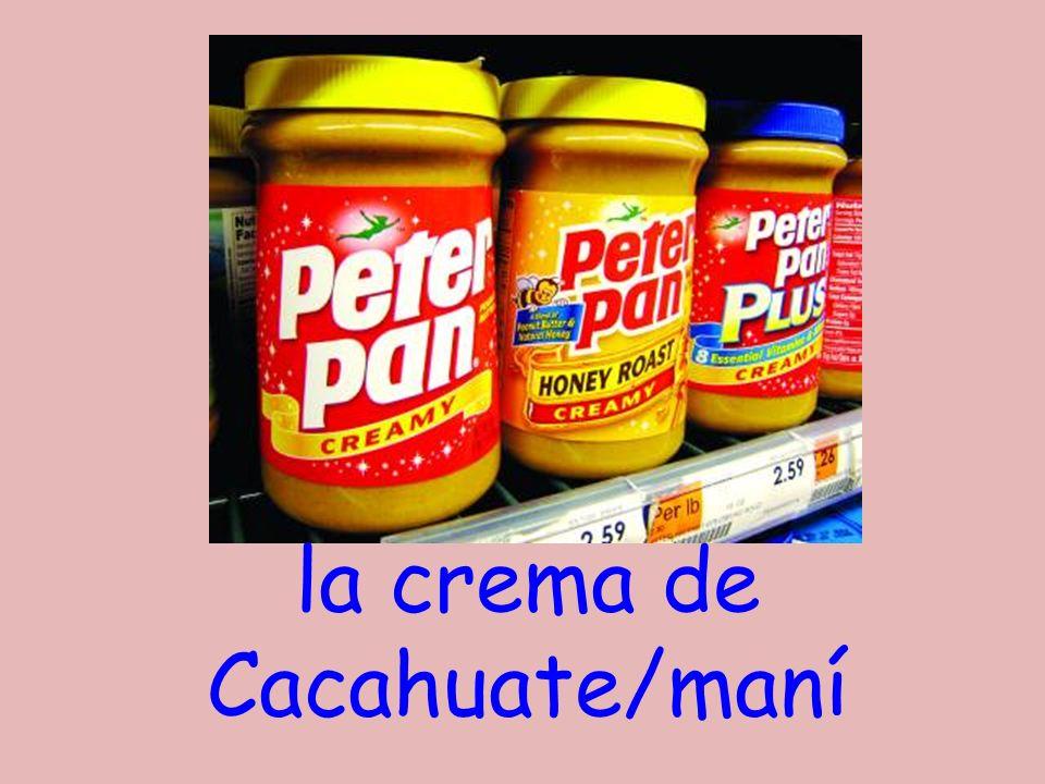 la crema de Cacahuate/maní
