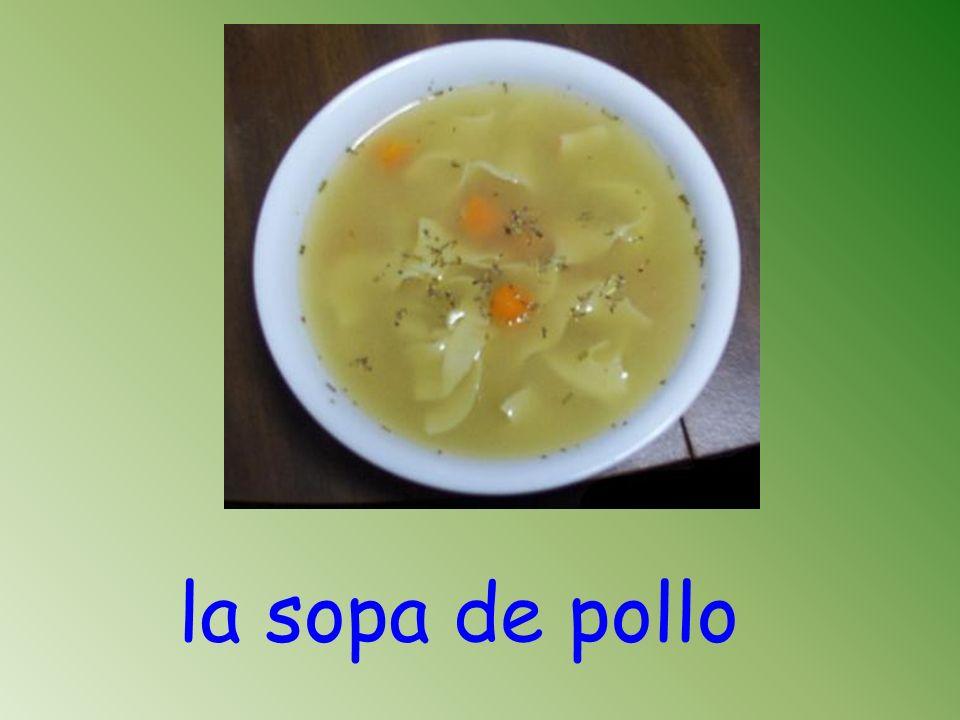 la sopa de pollo