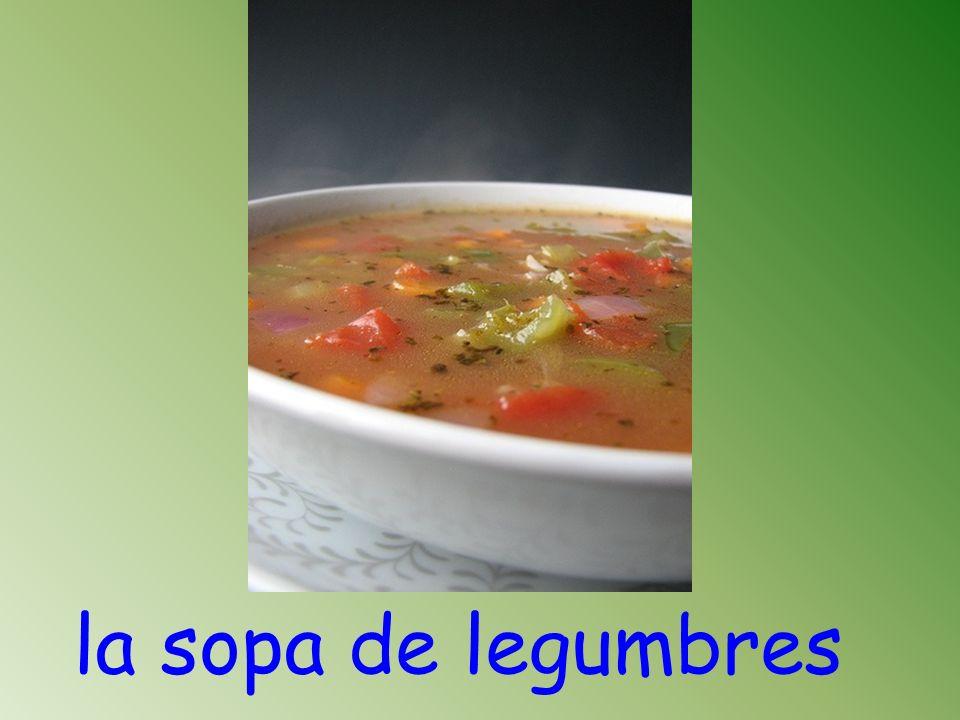 la sopa de legumbres