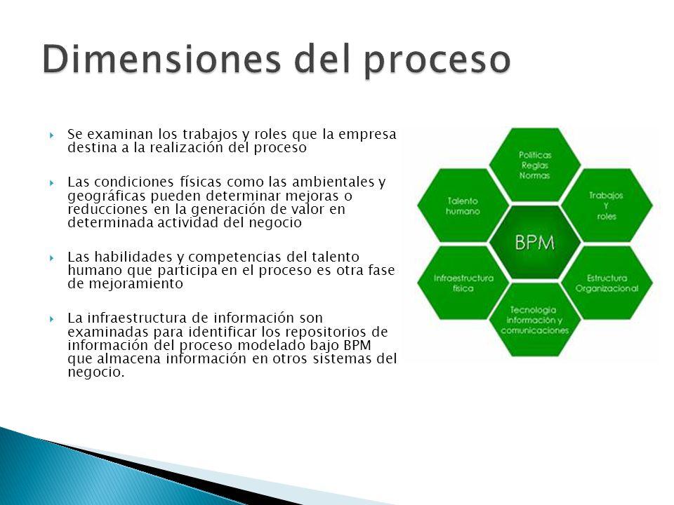Dimensiones del proceso