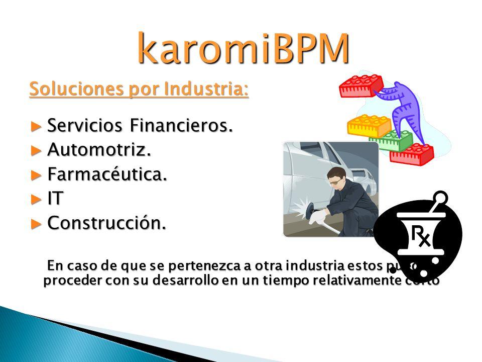 karomiBPM Soluciones por Industria: Servicios Financieros. Automotriz.