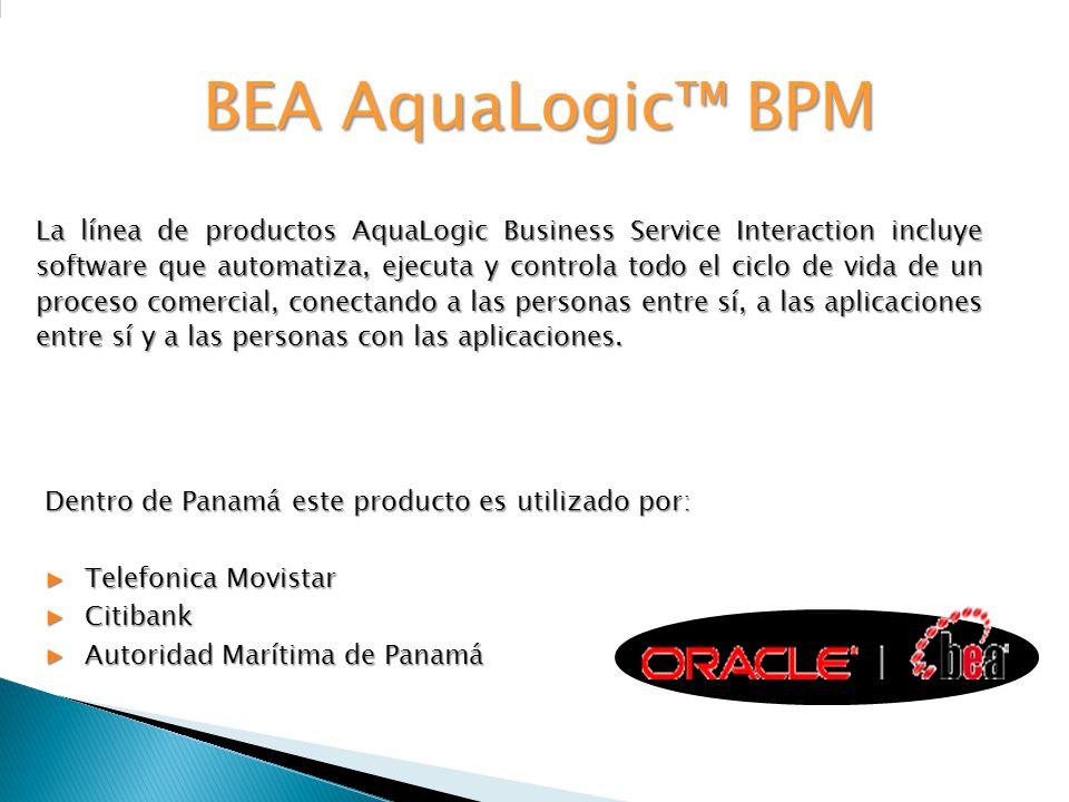 BEA AquaLogic™ BPM
