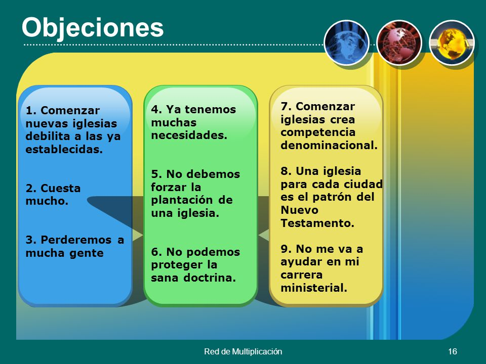 Objeciones 7. Comenzar iglesias crea competencia denominacional.
