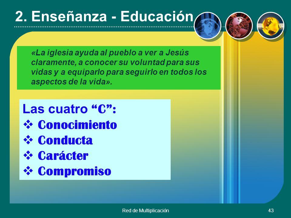 2. Enseñanza - Educación Las cuatro C : Conocimiento Conducta