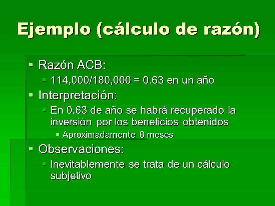 Ejemplo (cálculo de razón)