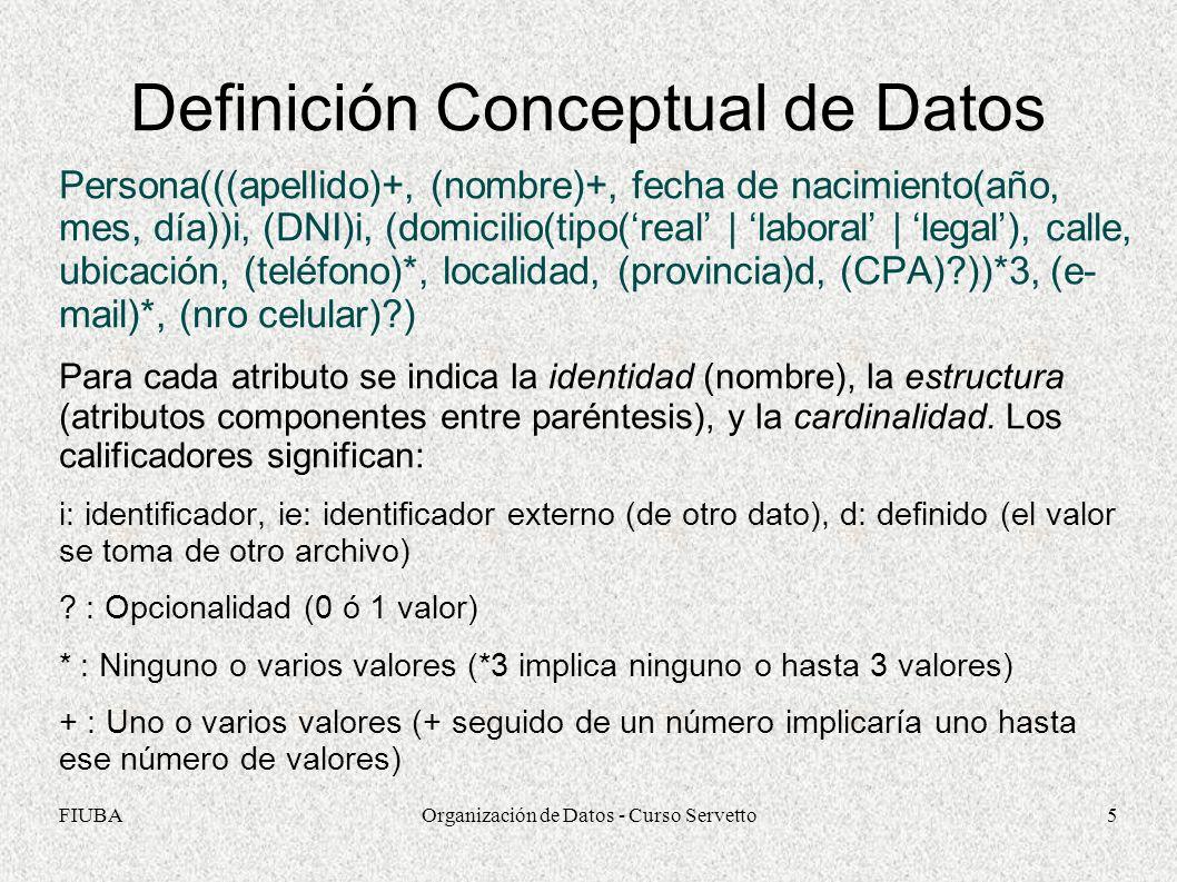 Definición Conceptual de Datos