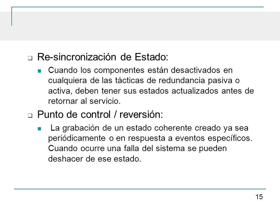 Re-sincronización de Estado: