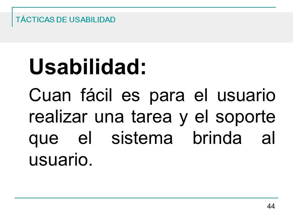 TÁCTICAS DE USABILIDAD