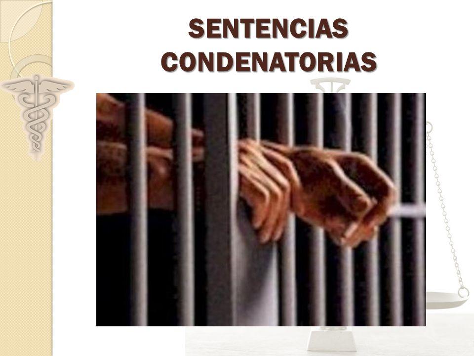 SENTENCIAS CONDENATORIAS