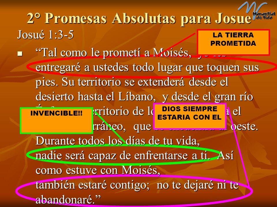 2° Promesas Absolutas para Josue