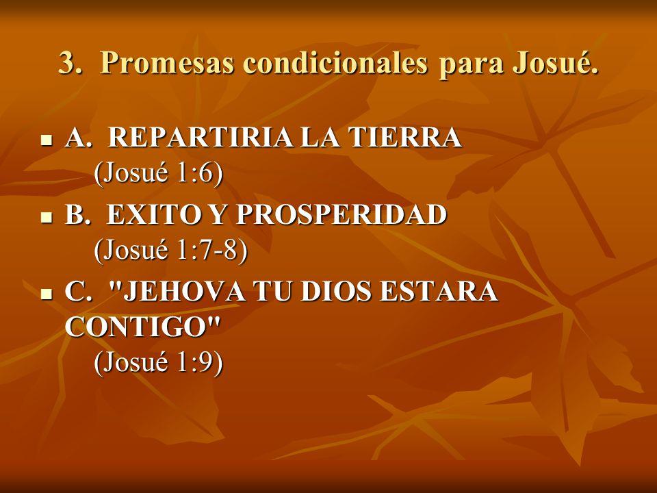3. Promesas condicionales para Josué.