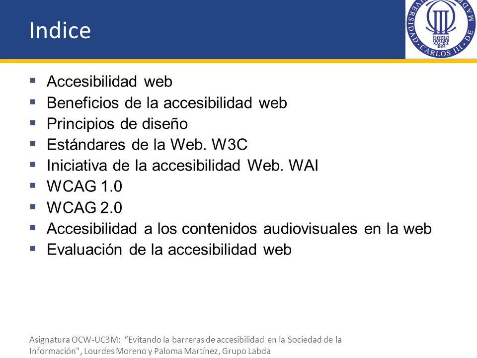Indice Accesibilidad web Beneficios de la accesibilidad web