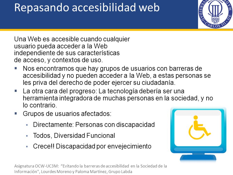 Repasando accesibilidad web