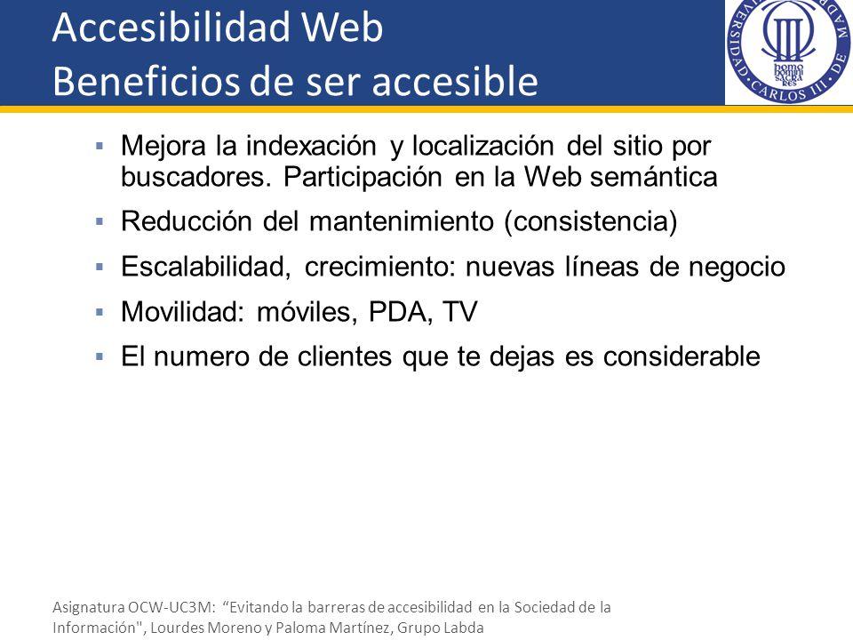 Accesibilidad Web Beneficios de ser accesible