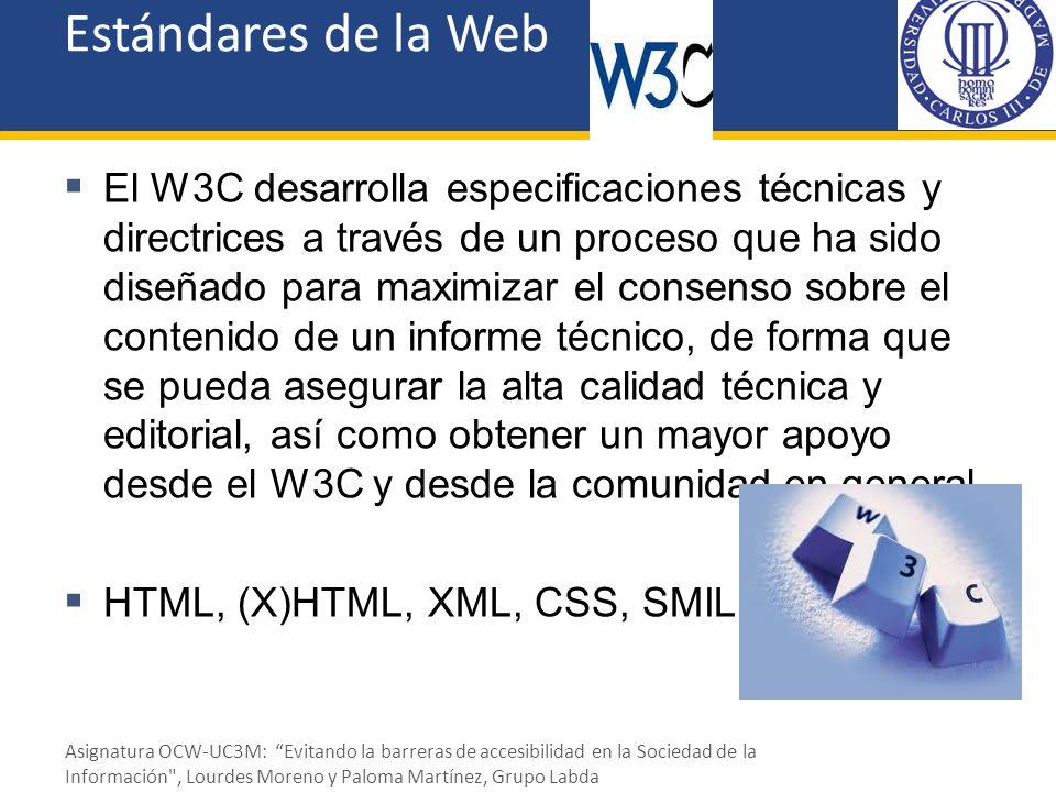 Estándares de la Web