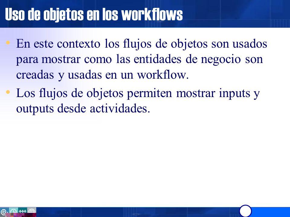 Uso de objetos en los workflows