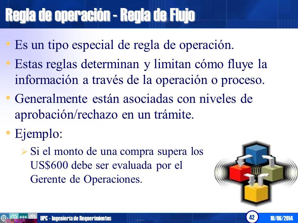 Regla de operación - Regla de Flujo