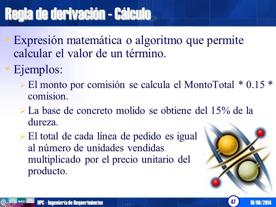 Regla de derivación - Cálculo