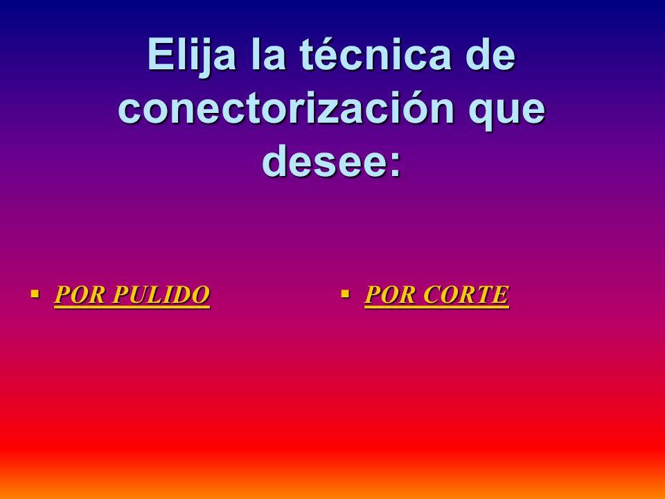 Elija la técnica de conectorización que desee: