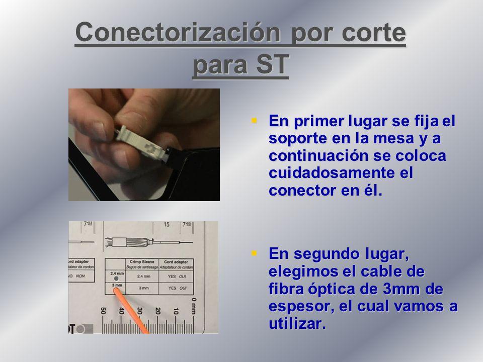 Conectorización por corte para ST