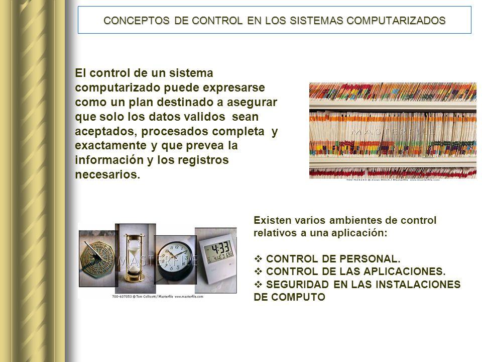 CONCEPTOS DE CONTROL EN LOS SISTEMAS COMPUTARIZADOS