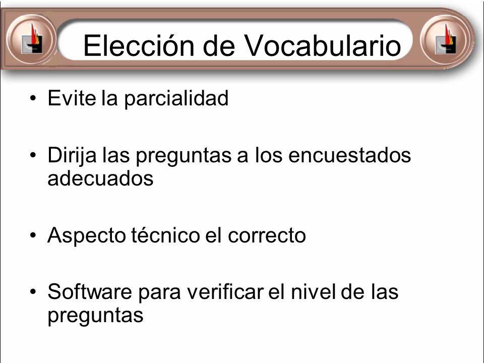 Elección de Vocabulario
