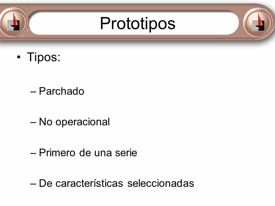 Prototipos Tipos: Parchado No operacional Primero de una serie