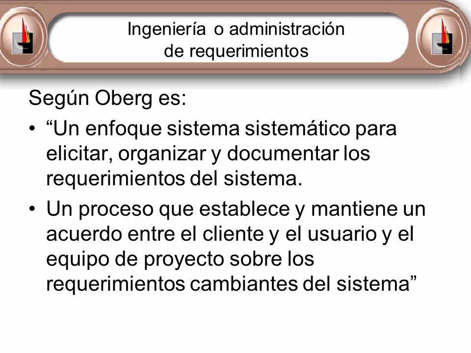 Ingeniería o administración de requerimientos