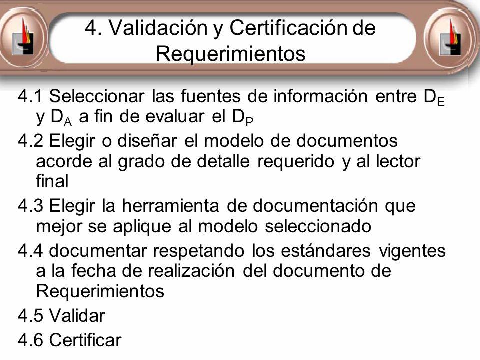 4. Validación y Certificación de Requerimientos