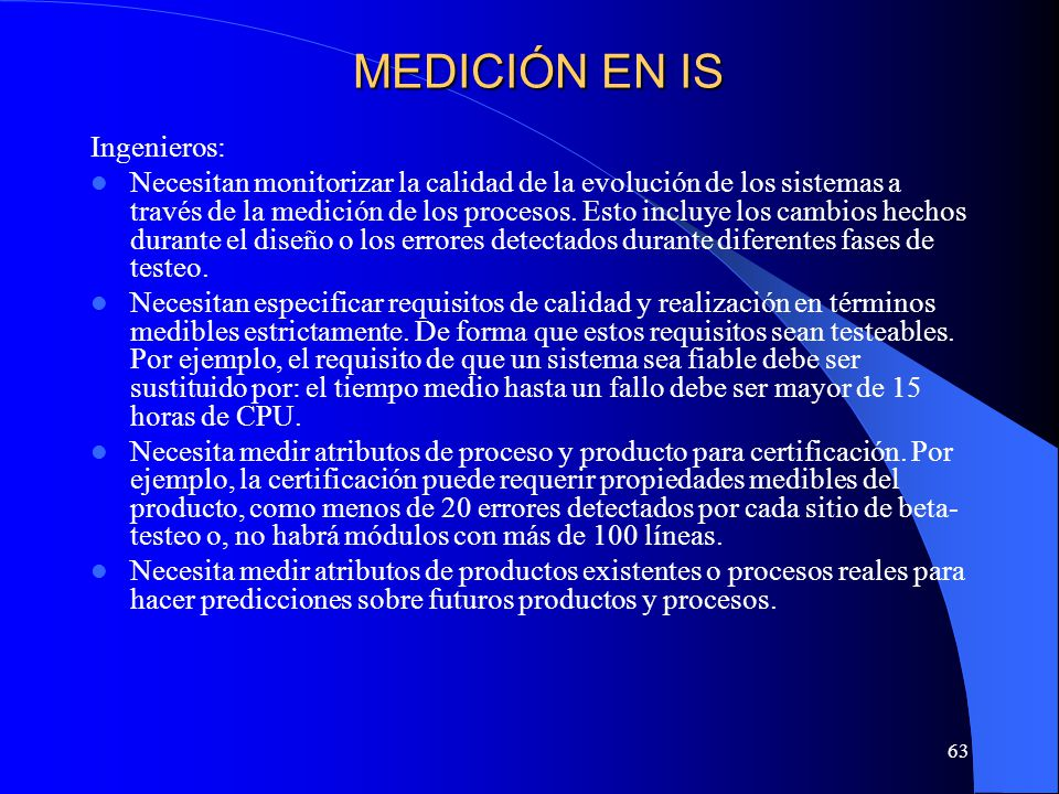 MEDICIÓN EN IS Ingenieros: