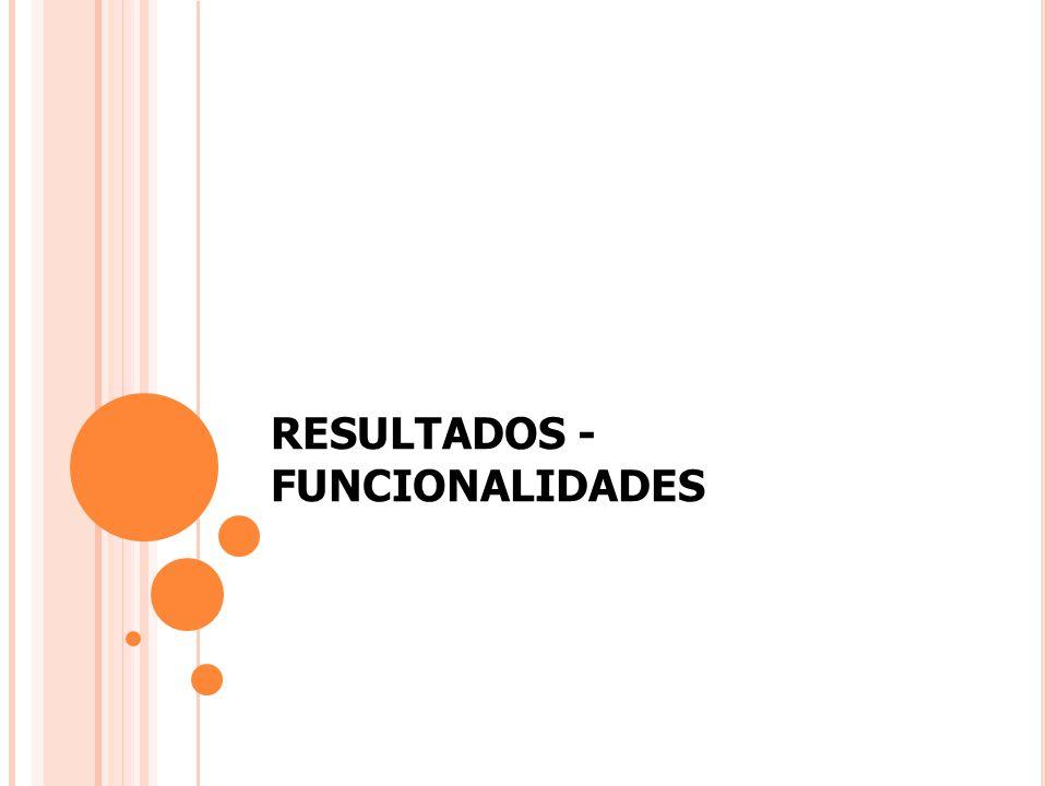 RESULTADOS - FUNCIONALIDADES