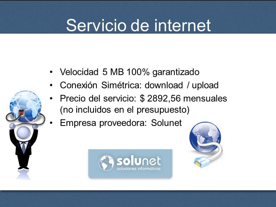 Servicio de internet Velocidad 5 MB 100% garantizado