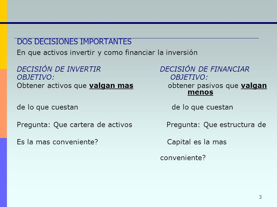 DOS DECISIONES IMPORTANTES