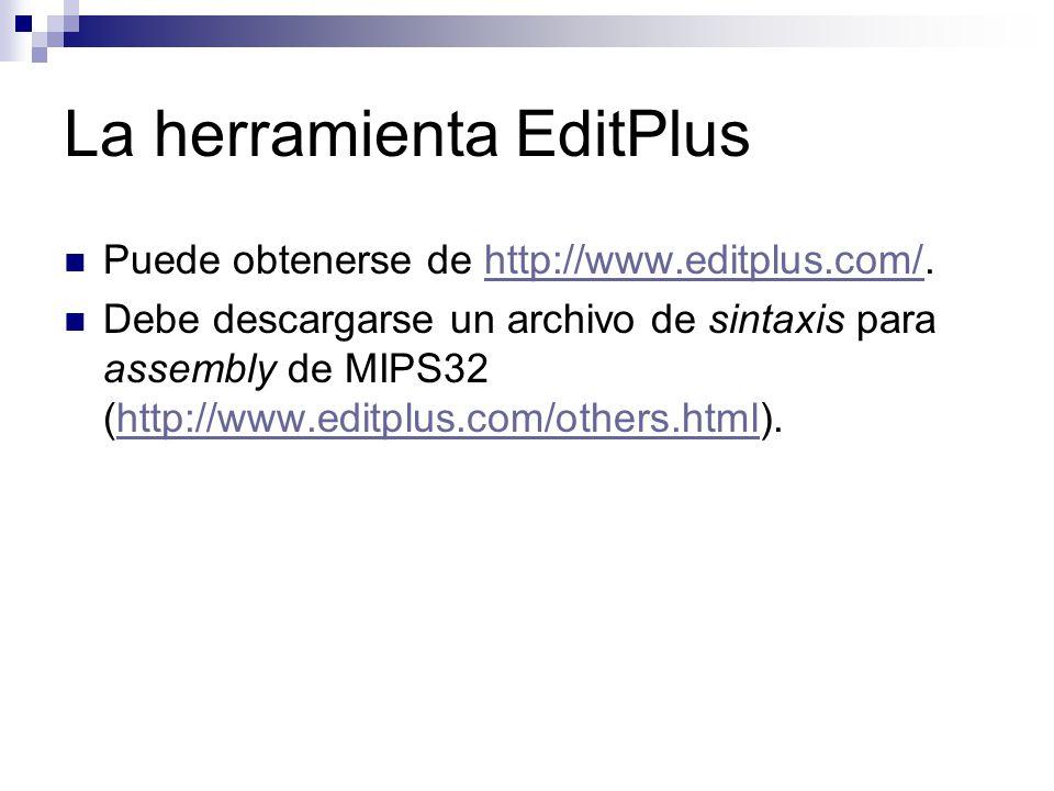 La herramienta EditPlus