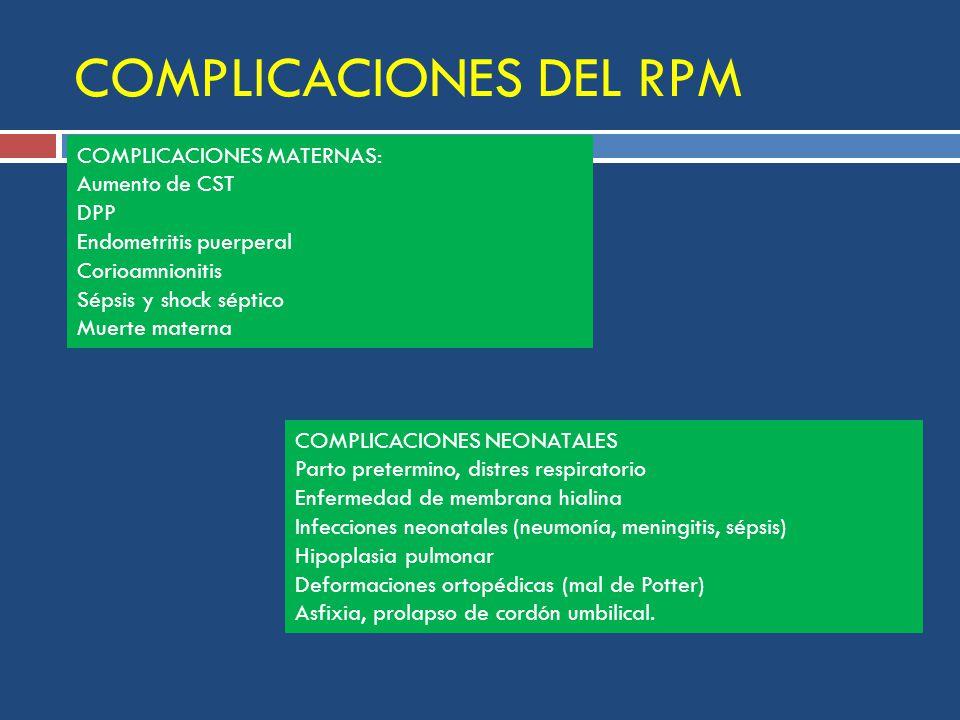 COMPLICACIONES DEL RPM