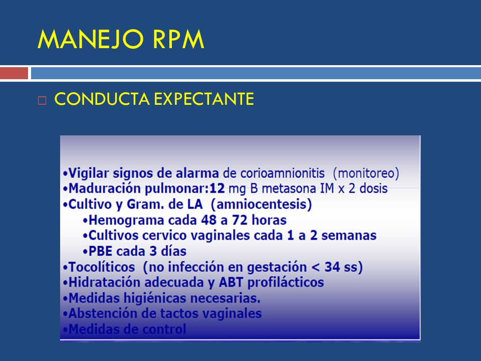 MANEJO RPM CONDUCTA EXPECTANTE